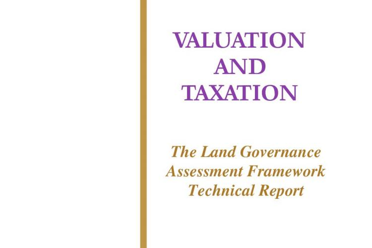 Valuation and Taxation