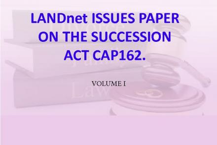 Landnet Land Issues Succession Paper CAP 162