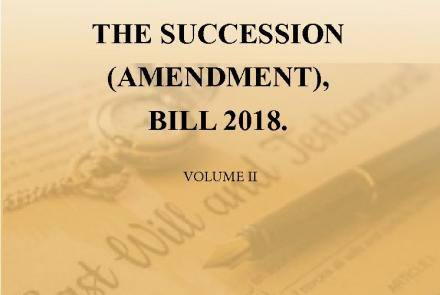 The Succession (Amendment), Bill 2018.